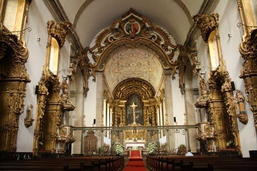 Interieur van de Igreja do Mosteiro de São Bento - Santo Tirso